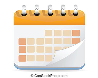 calendrier, vecteur
