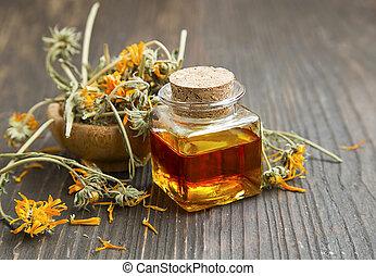 calendula, huile