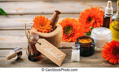 calendula , products., αιθέριο έλαιο , αιμοσφαίριο , και ,...