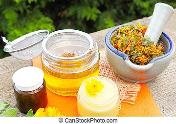 calendula, salbe, selbstgemacht