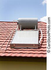 calentador de agua, solar