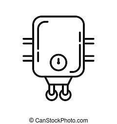 calentador de agua, vector, ilustración, diseño