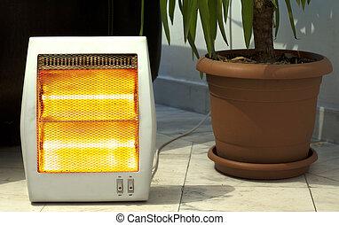 calentador, olla, eléctrico