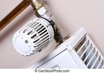 calentador, termostato, sol