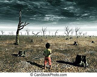 calentamiento del planeta, ilustración