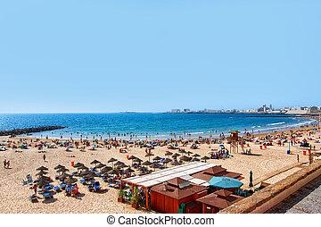 Caleta Beach at Atlantic Ocean Cadiz