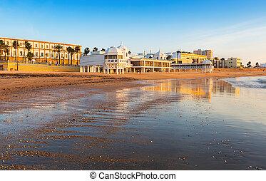 caleta, plaża, prospekt