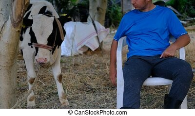 Calf-loving man
