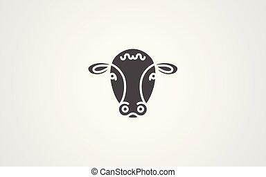 Calf vector icon sign symbol