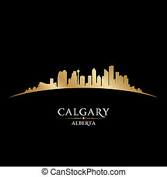Calgary Alberta Canada city skyline silhouette. Vector illustration
