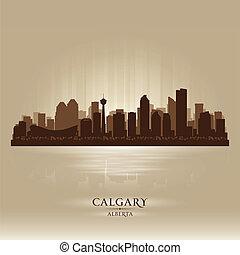 Calgary Alberta skyline city silhouette. Vector illustration