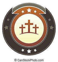 calgary, botão, cruzes, imperial