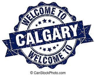 Calgary round ribbon seal