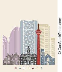 Calgary skyline poster