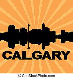 Calgary skyline sunburst