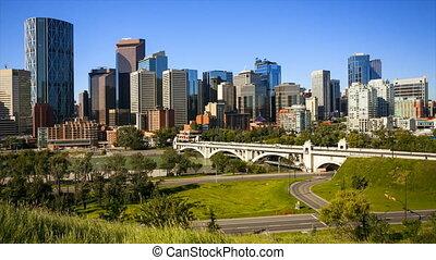 Calgary Skyline Time Lapse