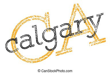 Calgary sticker stamp - Calgary sticker. Authentic design...