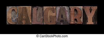 calgary, vecchio, legno, tipo