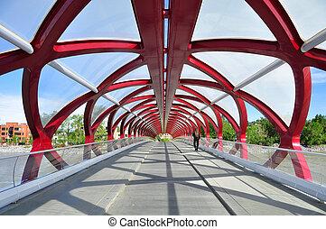 Peace Bridge - Calgarys Peace Bridge which spans the Bow ...