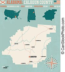 Calhoun County in Alabama USA