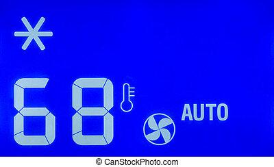 calibrador, acondicionador, aire