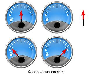 calibrador, gas