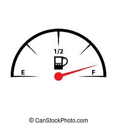 calibrador, icono, combustible