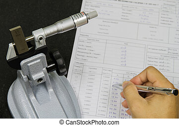 Calibration micrometer in laboratory