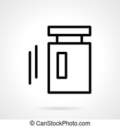 Calibration weight black line vector icon - Metrology...