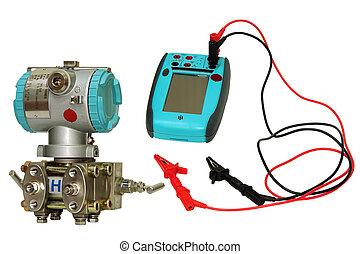 calibrator., diferencial, sensor