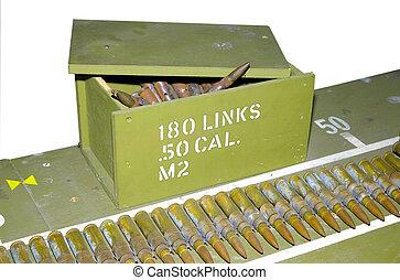 calibre, balas, 50