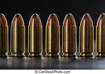 calibre, cartucho, Milímetros, número,  9, pistola