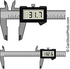 calibre, lcd, micromètre, vernier, jauge, numérique,...