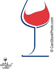 calice, grafico, stile di vita, illustration., classico, wineglass, romantico, sofisticato, idea., tema, disegno, artistico, appuntamento, elegante, vino, element., alcool