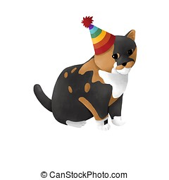 Calico birthday kitty cat - This cute calico kitty cat has a...