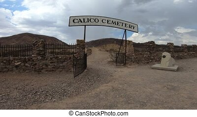 Calico Cemetery Ghost Town - Entrance to Calico Ghost Town...