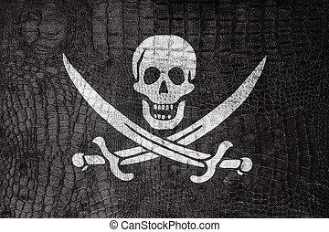 Calico Jack Pirate Flag, on a luxurious, fashionable canvas