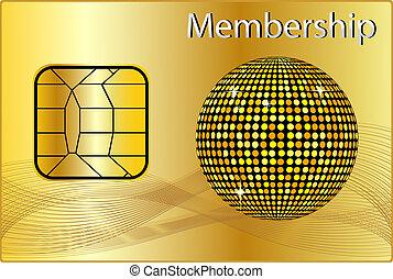 calidad de miembro, tarjeta