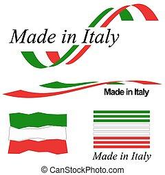 calidad, italia, colección, sello