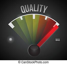 calidad, velocímetro, ilustración, diseño