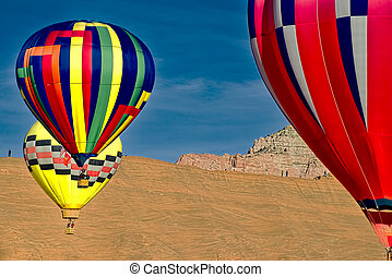 caliente, balloons., aire