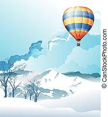 caliente, globo, aire