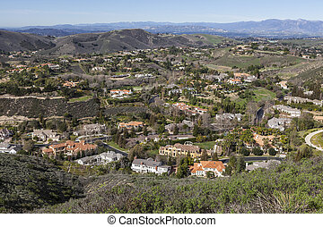 califórnia, mansão, vale