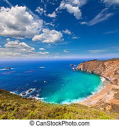 califórnia, praia, em, sur grande, em, município monterey,...