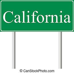 californië, groene, wegaanduiding
