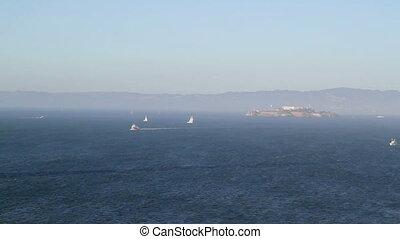 Alcatraz Prison boats time lapse - California Alcatraz...