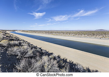 California Aqueduct near Los Angeles, California. - ...