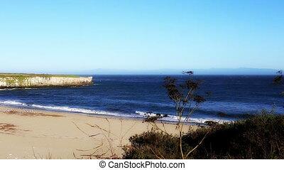 California beach dream like colors