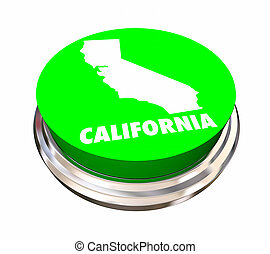 California CA State Button Best Location Choice 3d ...