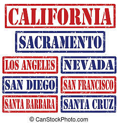 California Cities stamps